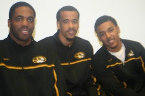 Three MU basketball players visit GHS