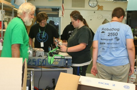 Mr. Clark Vance and his robotics students at GHS are assembling the K-9 in preparation for Saturday's Strutt with Your Mutt walk.
