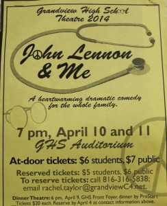 Theatre Department to present John Lennon and Me