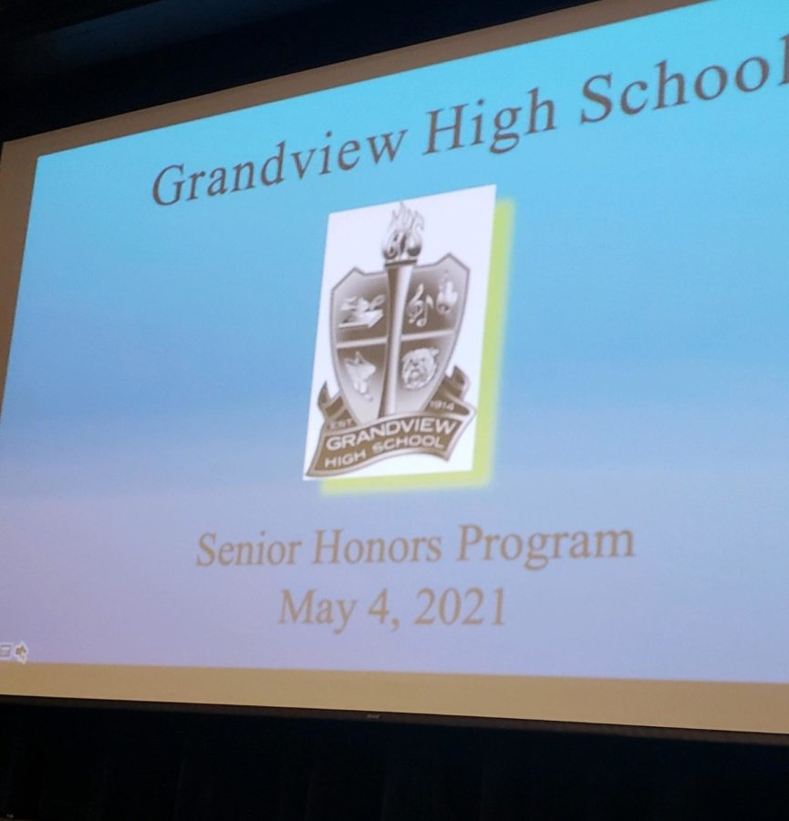 The Senior Honor Night banner.